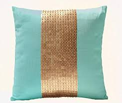 teal and gold pillows. Brilliant Pillows Amore Beaute Handmade Teal Pillow Covers Gold Color Block In Silk And  Sequin In And Gold Pillows A