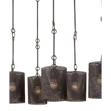 hanging old black iron chandeliers with round wire lamp shades for kitchen or dining room lighting ideas