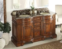60 Bathroom Cabinet Adelina 60 Inch Double Sink Bathroom Vanity Chestnut Finish