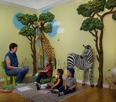 beautiful jungle theme wall decor