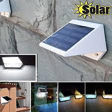 MarSwell 4 LED Cool White Waterproof Solar Powered Light Step Solar Garage Lighting
