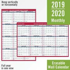 Year At A Glance Calendars At A Glance 2019 2020 Academic Year Wall Calendar Jumbo Reversible Layout