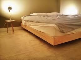 platform bed with floating nightstands floating bed frame tatami bed frame plans