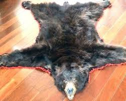 faux bear rug skin rugs polar fur s