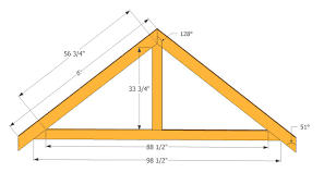 Shed Roof Designs Truss Design For A 4 12 Pitch Roof Roof Trusses Plans Swawou