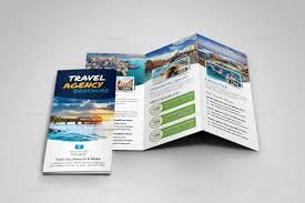 Travel Trifold Brochure Design Template V5