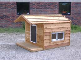48x66x46 Custom Large Insulated Heated Dog House with Porch Open Top 2  Windows Hound Heater Door