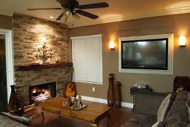 fireplace mantel lighting. Lighting Fireplace. Mantel Sconce Addition Accent Light Above Fireplace