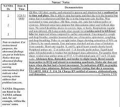Nursing Notes Ia Example Of Narrative Chronological