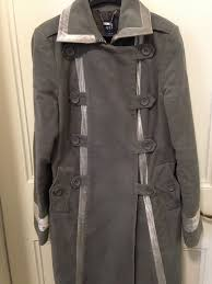 beautiful gap coat military style size 14 velvet details