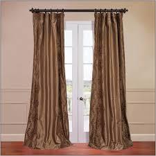solid faux silk taffeta curtains