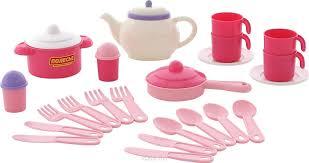 <b>Полесье Набор</b> игрушечной <b>посуды Настенька</b> 59017, цвет в ...