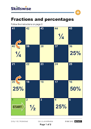Fractions and Percentages | Math | Pinterest | Worksheets, Math ...