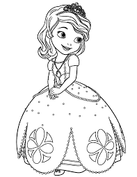 Small Picture Disney Sofia The First Princess Coloring Page H M Coloring Pages