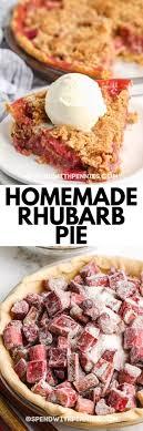 rhubarb pie spend with pennies