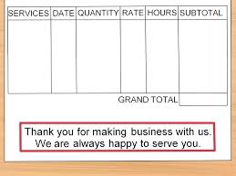Create A Receipt Template Your Own How To Make An Invoice