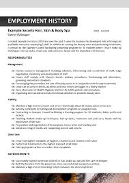 beautician resume writing a resumes guidelines for resume writing