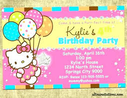Hello Kitty Invitation Printable Cat Birthday Invitations Printables Hello Kitty Birthday Party