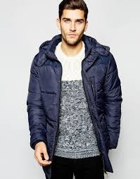 Lyst - Blend Quilted Jacket Hooded Long in Blue for Men & Gallery Adamdwight.com