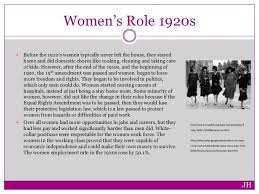 women in the s women s role