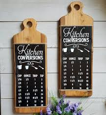 Kitchen Conversion Chart Decor Kitchen Conversion Chart Rustic Kitchen Decor Reclaimed