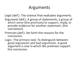 logic arguments and fallacies