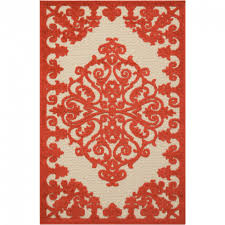 nourison aloha red 3 ft x 4 ft indoor outdoor area rug 299154 inside outstanding red outdoor rug for your home concept