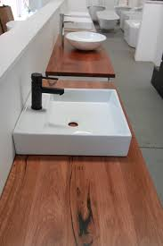integra 1200 wall hung bathroom vanity with timber bench top