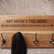 Personalised Coat Rack Beauteous Personalised Wooden Coat Rack Silver Ribbon Gifts