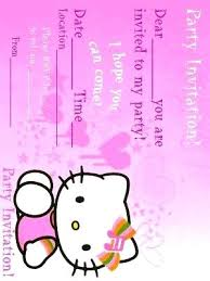 Free Printable Birthday Invitation Templates Fresh Hello Kitty Party