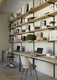 office wall shelving. #KBHome Office Space As An Extension Of A Wall Shelving Unit Vs. My Feng Shui Fears Having Back Exposed? Pinterest