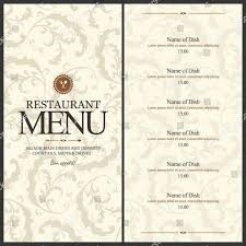 Blank Cafe Menu Template World Of Printable And Chart