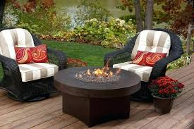small round gas fire pit table outdoor reviews o review