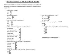 Small Business Questionnaire Party Planners Small Business Idea