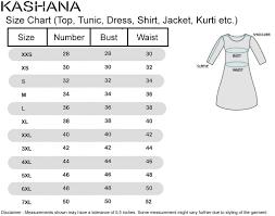 Hsn Size Chart Female Blouse Size Chart Rldm