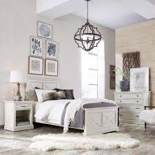 white coastal bedroom furniture. Seaside Lodge Hand Rubbed White Twin Bedroom Set With Coastal Furniture