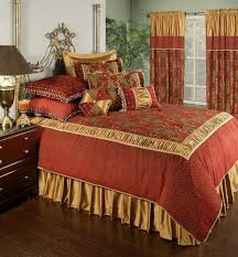 austin horn classics 4 piece montecito royale comforter set king red gold