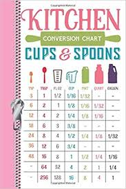 Kitchen Conversion Chart Cups Spoons Tsp Tbsp Fl Oz Cup