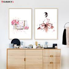 modern watercolour fashion women high heeled shoes canvas painting wall art decor poster and print on shoe wall art high heels with modern watercolour fashion women high heeled shoes canvas painting