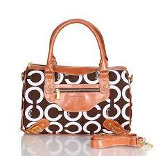 Coach Logo In Monogram Medium Brown Luggage Bags CED