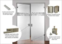 full glass double doors with hinges