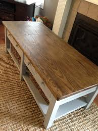 chalk paint coffee table images gray painted grey makeover white long rectangle cottage high resolution diy