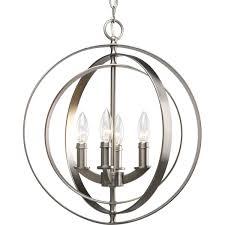 sphere lighting fixture. Progress Lighting P3827-126 4-Light Sphere Foyer Lantern With Pivoting Interlocking Rings, Burnished Silver - Ceiling Pendant Fixtures Amazon.com Fixture L