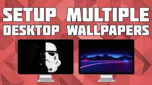 setup diffe wallpapers on multiple