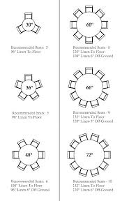 always liked round tables this is a good seating guide to diffe sizes inch table 84