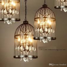 american ault do the old vintage wrought iron chandelier bird cage lamps crystal lamp living room restaurant villa ac110 240v ce drop ceiling light fixtures