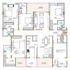 4bhk 6t pooja servant room 3 super area 2841 sq ft apartment