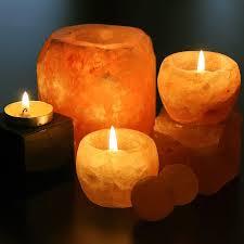 Rock Tea Light Holder Himalayan Crystal Rock Salt Tealight Candle Holder X 2