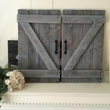 2 rustic barn doors large size rustic gallery wall fixer upper wall decor wood
