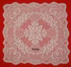 Square Tablecloth Crochet Pattern Vintage Filet Doily Chart Pdf Pattern Crocheted Doily